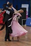 Moroz Stanislav and Lysyuk Yuliya Perform Youth-2 Standard Program Royalty Free Stock Photography