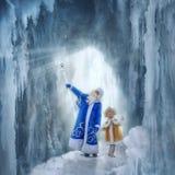 Morozko shows Nastenka his ice Palace.