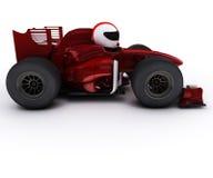 Morph al hombre con el coche de competición rodado abierto Imágenes de archivo libres de regalías