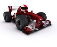 Morph man with open wheeled racing car Stock Image