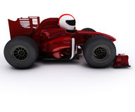 Morph man with open wheeled racing car Royalty Free Stock Images