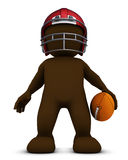 Morph Man  playing american football. 3D Render of Morph Man playing american football Royalty Free Stock Photography