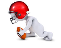 Morph Man playing american football. 3D Render of Morph Man playing american football Stock Image