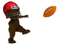 Morph Man playing american football. 3D Render of Morph Man playing american football Stock Photography