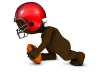 Morph Man playing american football. 3D Render of Morph Man playing american football Royalty Free Stock Photo