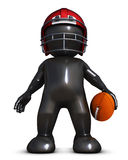 Morph Man playing american football. 3D Render of Morph Man playing american football Royalty Free Stock Photos