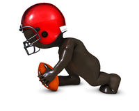 Morph Man playing american football. 3D Render of Morph Man playing american football Stock Images