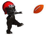 Morph Man playing american football. 3D Render of Morph Man playing american football Royalty Free Stock Images