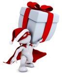 Morph man santa super hero Royalty Free Stock Image