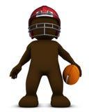 Morph o homem que joga o futebol americano ilustração stock