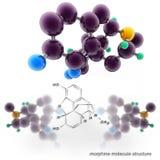 Morphine molecule structure Stock Photos