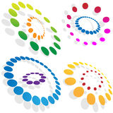 Morphing Dotted Circles. Isolated on a white background Royalty Free Stock Photo
