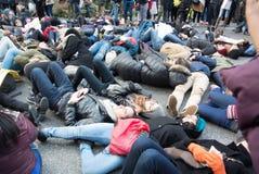 Morra no protesto preto da matéria das vidas Foto de Stock