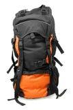 Morral turístico anaranjado Foto de archivo libre de regalías