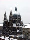 Morre o cerco do vom de Kirche Maria, igreja de Maria Victorious em Wien, Áustria Imagens de Stock Royalty Free