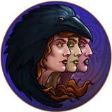 Morrigan - dea della guerra illustrazione di stock