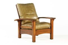 Morris Chair with Leather Cushions. Arts and Craft Era Morris Chair Royalty Free Stock Photography