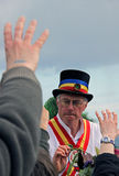 Morris Dancer at Jack In The Green Festival Royalty Free Stock Photo