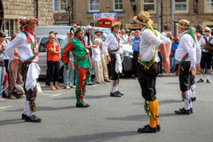 Morris Dancers. Morris dancing at the Rushcart Ceremony in Saddleworth, UK on 20th of August, 2011 Stock Photo