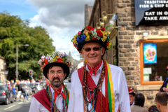 Morris Dancers. Morris dancing at the Rushcart Ceremony in Saddleworth, UK on 20th of August, 2011 Stock Images
