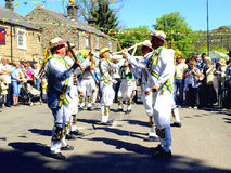 Morris dancers at Ashover Carnival. Royalty Free Stock Photography