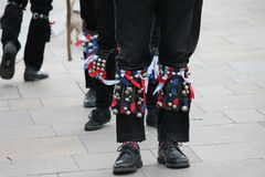 Morris dancers British tradition knee bells Stock Images