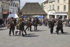 Morris Dancers in Chippenham. Wiltshire. Engeland stock foto