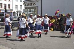Morris Dancers at Chippenham. Wiltshire. England Stock Photos