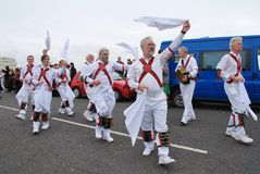 Morris dancers, Hastings Royalty Free Stock Images