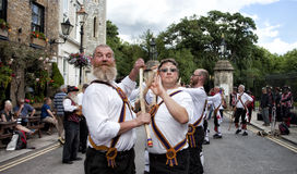 Morris dancers - Tradictional folk dancers Royalty Free Stock Photography