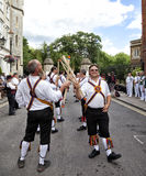 Morris dancers - Tradictional folk dancers Stock Image