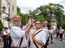 Morris dancers - Tradictional folk dancers Stock Photo