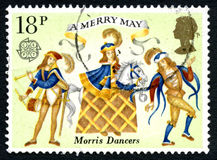 Morris Dancers UK Postage Stamp Stock Images