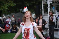 Morris Girls Dancing Immagine Stock