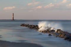 Morris Island Light Fotos de archivo libres de regalías