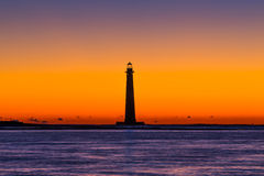 Morris Island Lighthouse 1 Arkivbilder