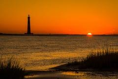 Morris Island Lighthouse 3 Arkivbild