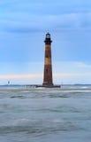 Morris Island Lighthouse Folly Beach-Zuid-Carolina Stock Afbeeldingen