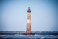 Morris island lighthouse on a sunny day royalty free stock images