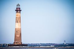 Morris island lighthouse on a sunny day royalty free stock photography