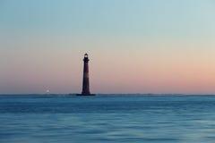 Morris Island Lighthouse at sunny morning. South Carolina, USA Royalty Free Stock Photography