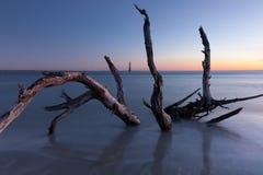 Morris Island Lighthouse at sunrise. South Carolina, USA royalty free stock image