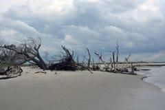 Morris Island, SC de la playa de la locura fotos de archivo