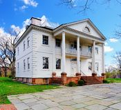 Morris-Jumel Mansion. The historic Morris-Jumel Mansion in Washington Heights, New York, New York, USA.  George Washington used the mansion as his temporary Royalty Free Stock Image