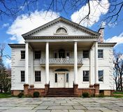 Morris-Jumel Mansion. The historic Morris-Jumel Mansion in Washington Heights, New York, New York, USA.  George Washington used the mansion as his temporary Royalty Free Stock Images