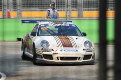 Morris Ku racing at Porsche Carrera Cup Asia Stock Photo
