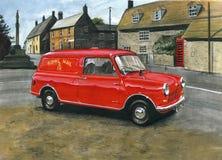 Morris Mini Van Post Office Imagenes de archivo