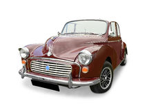 Morris Minor car. On a white background Royalty Free Stock Photography