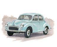 Morris Minor Stock Photo
