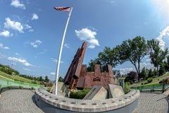 Morris społeczności miejskiej bliźniacze wieże Pamiątkowe Obraz Stock